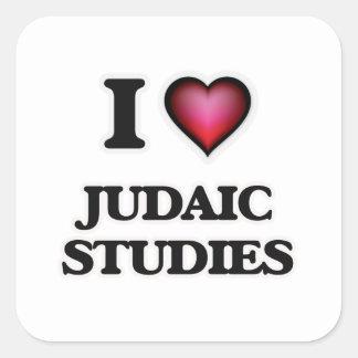 I Love Judaic Studies Square Sticker