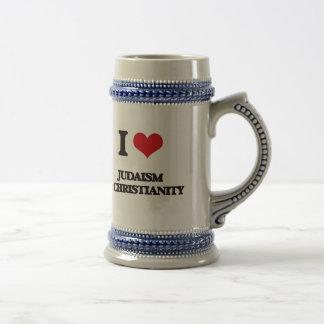 I Love Judaism & Christianity Beer Steins