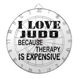 I Love Judo Because Therapy Is Expensive Dartboard