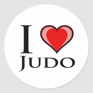 I Love Judo Classic Round Sticker