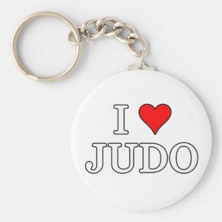 I Love Judo Keychain