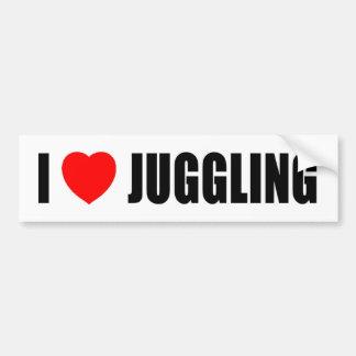 I Love Juggling Bumper Sticker