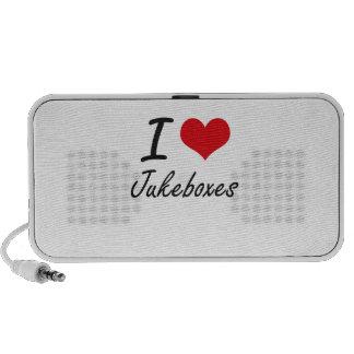 I Love Jukeboxes Laptop Speakers