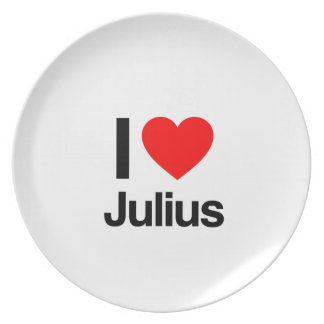 i love julius party plate