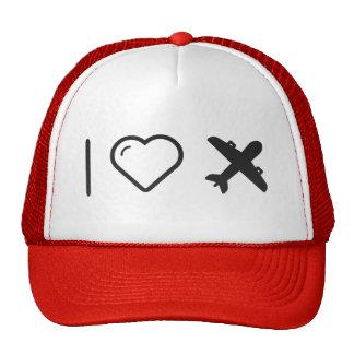I Love jumbo jets Cap
