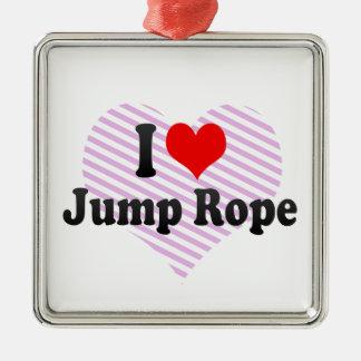 I love Jump Rope Metal Ornament