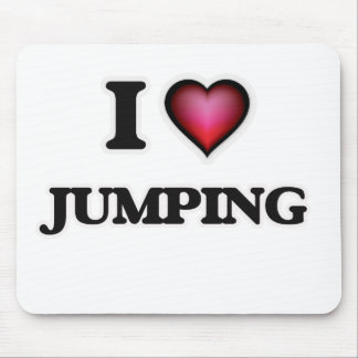 I Love Jumping Mouse Pad