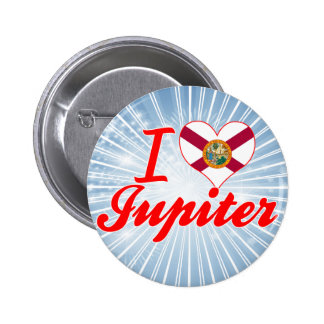 I Love Jupiter Florida Pinback Button
