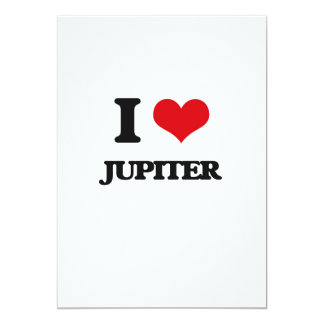 """I Love Jupiter 5"""" X 7"""" Invitation Card"""
