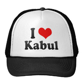 I Love Kabul, Afghanistan Mesh Hat