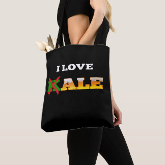 I Love Kale, Funny, Nerdy Beer Lover Gifts. Tote Bag