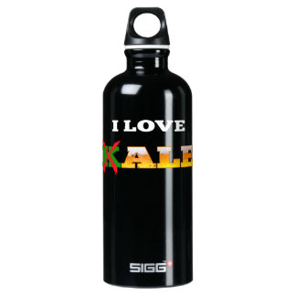 I Love Kale, Funny, Nerdy Beer Lover Gifts. Water Bottle