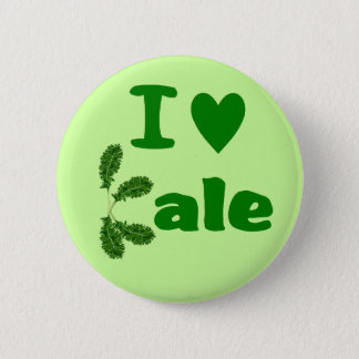 I Love Kale (I Heart Kale) Vegetable/Gardener 6 Cm Round Badge