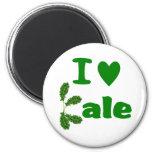 I Love Kale (I Heart Kale) Vegetable/Gardener Magnets