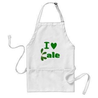 I Love Kale (I Heart Kale) Vegetable/Gardener Standard Apron