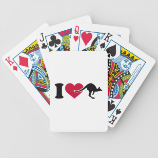 I love Kangaroos Bicycle Playing Cards