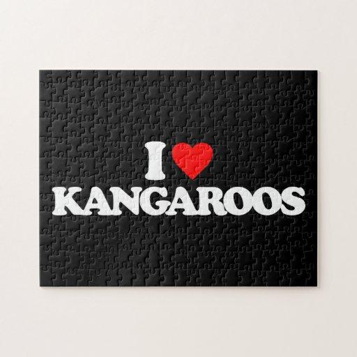 I LOVE KANGAROOS PUZZLES