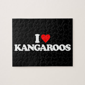 I LOVE KANGAROOS JIGSAW PUZZLES