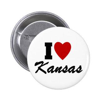 I Love Kansas Pinback Button