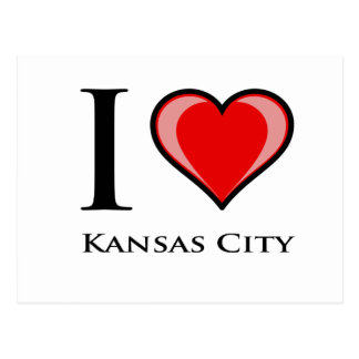 I Love Kansas City Postcard