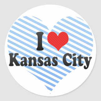 I Love Kansas City Round Sticker