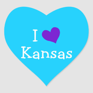I Love Kansas Heart Sticker
