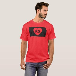 I Love Kansas State Men's Basic Dark T-Shirt