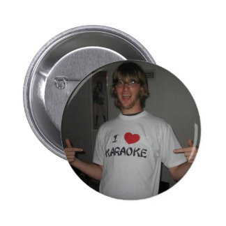 I Love Karaoke 6 Cm Round Badge