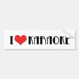 I Love Karaoke Bumper Sticker