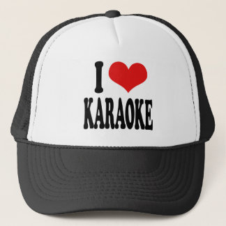 I Love Karaoke Trucker Hat