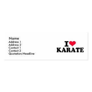 I love Karate Business Card