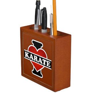 I Love Karate Desk Organiser
