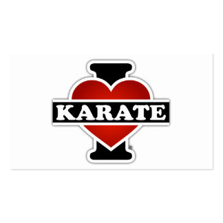 I Love Karate Pack Of Standard Business Cards
