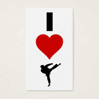 I Love Karate (Vertical)