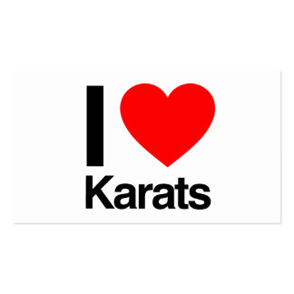 i love karats business card template