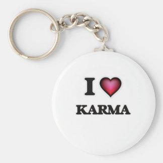 I Love Karma Key Ring