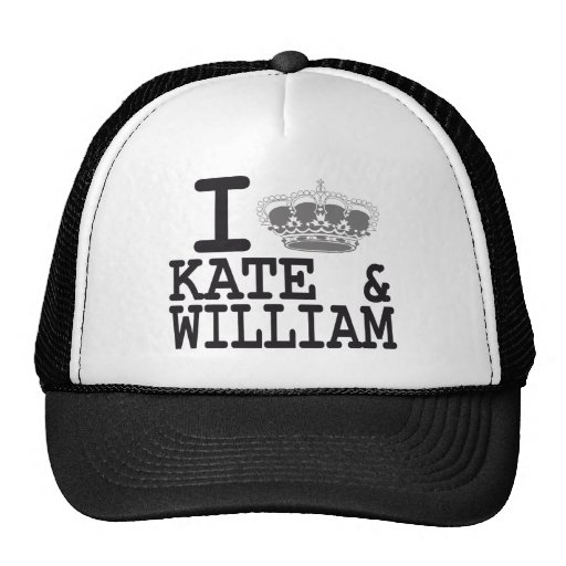 I LOVE KATE and WILLIAM - CROWN Hat
