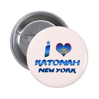 I love Katonah, New York 6 Cm Round Badge