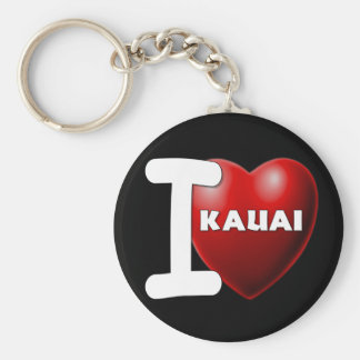 I Love Kauai, Hawaii Key Chains