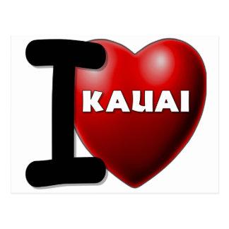 I Love Kauai, Hawaii Post Cards