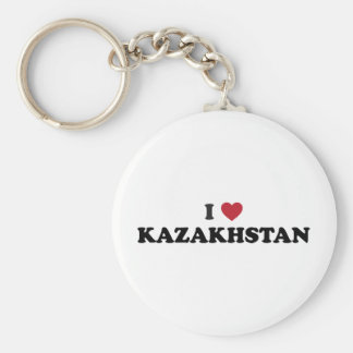 I love Kazakhstan Basic Round Button Key Ring