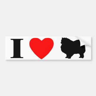 I Love Keeshonden Bumper Sticker