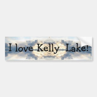I love Kelly  Lake Sunset Collage Bumper Sticker