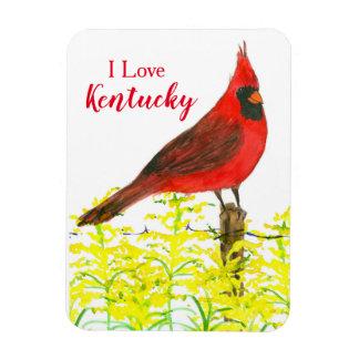 I Love Kentucky Red Cardinal State Bird Magnet