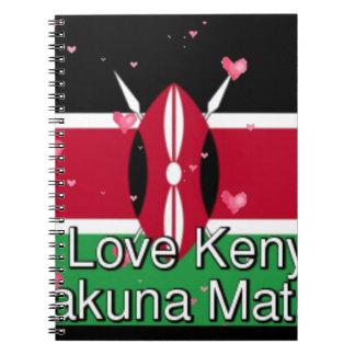 I Love ! Kenya Hakuna Matata funny note design art Notebook