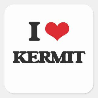I Love Kermit Square Sticker