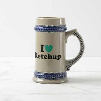 I Love Ketchup 18 Oz Beer Stein
