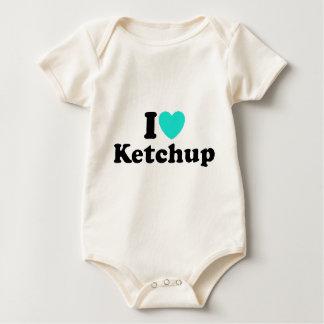 I Love Ketchup Baby Bodysuits