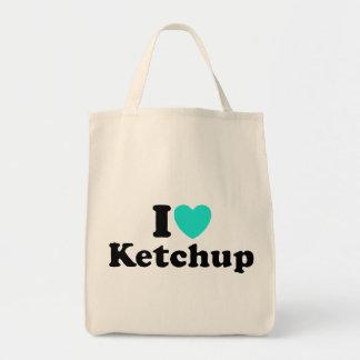 I Love Ketchup Grocery Tote Bag