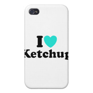 I Love Ketchup iPhone 4 Covers